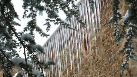 Icicles stock footage