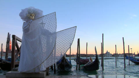 venetian mask 11 Stock Video Footage