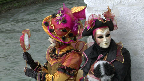 venetian mask 21 Stock Video Footage