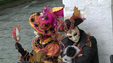 venetian mask 21 Stock Video Footage