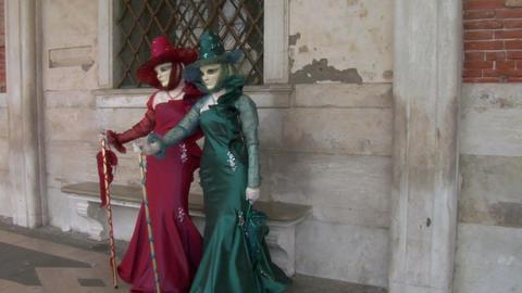 venetian mask 31 Stock Video Footage