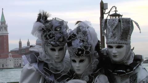 venetian mask 43 Stock Video Footage