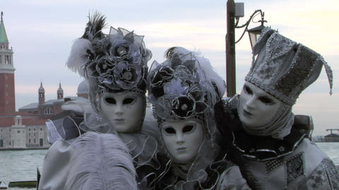 venetian mask 43 Stock Video Footage