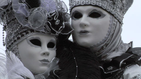 venetian mask 45 Stock Video Footage