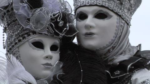 venetian mask 45 Stock Video Footage
