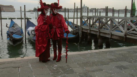 venetian mask 62 Stock Video Footage