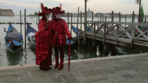 venetian mask 62 Stock Video Footage