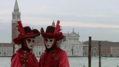 venetian mask 64 Stock Video Footage