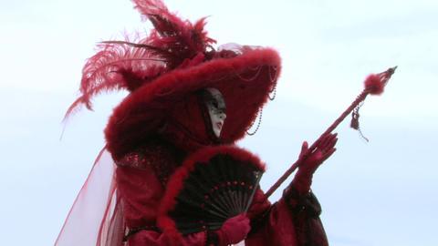 venetian mask 72 Stock Video Footage