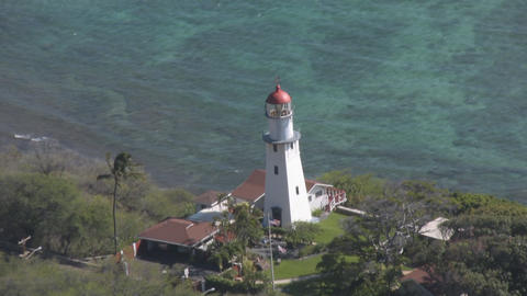 Diamond Head Lighthouse 01 Stock Video Footage