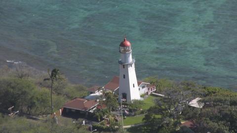 Diamond Head Lighthouse 01 Stock Video Footage