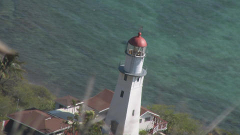 Diamond Head Lighthouse 03 Stock Video Footage