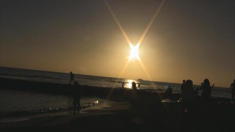 sunset beach05 Stock Video Footage