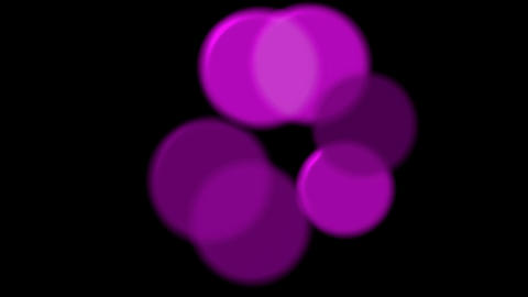 purple circle light,defocused circle lights drifting downwards,spores,cells,drug Animation
