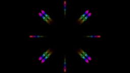 Color Circle Shaped Music Rhythm Light,aura,particle,rainbow.Chopsticks,tablewar stock footage