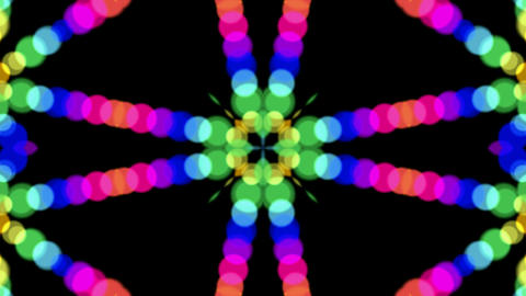 color circle shaped music rhythm light,flower... Stock Video Footage