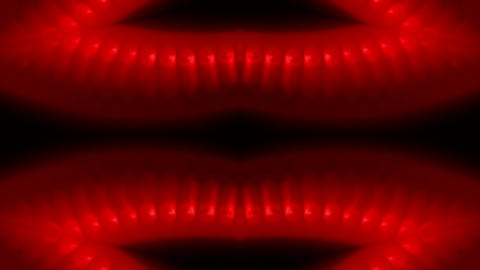 red lips,sexy nightclub background,fiery music rhythm pattern,red beads chain.pa Animation