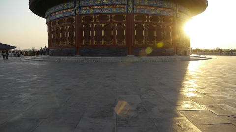 Temple of Heaven in Beijing.China slate floor ancient... Stock Video Footage