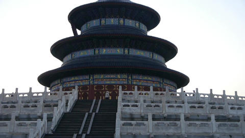 Panorama of Temple of Heaven in Beijing.China's royal... Stock Video Footage