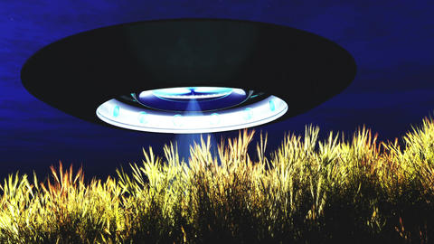 Ufo Scanning over Wheat Field Ufo 14 Animation