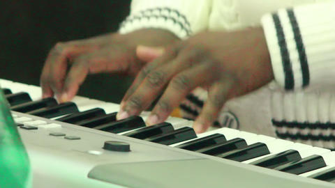 Black man plays music 5 Stock Video Footage