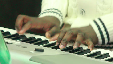 Black man plays music 5 Stock Video Footage