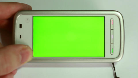 Smartphone With Green Screen stock footage