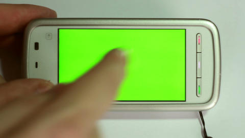 Smartphone with green screen Stock Video Footage