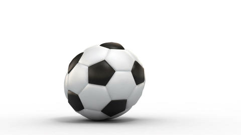 rolling soccer ball Stock Video Footage