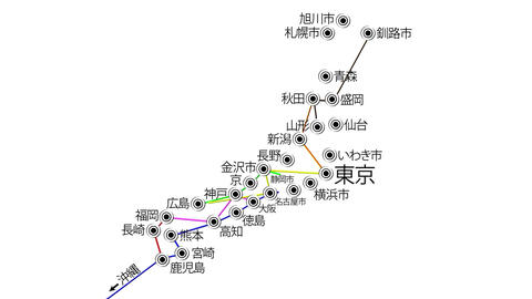 Japan Cities Subway Map Design 3 Animation