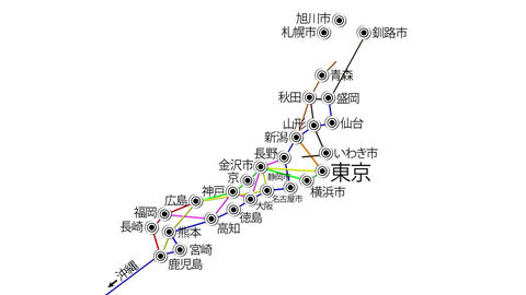 Japan Cities Subway Map Design 3 Stock Video Footage
