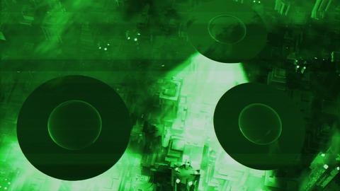 UFO Invasion Scanning in Metropolis 4 Stock Video Footage
