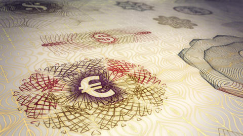 Paper Currency Scrolling Background Loop Stock Video Footage