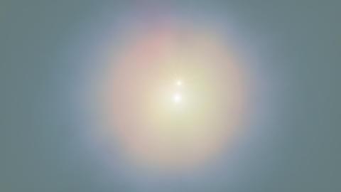 Desert Sun Looping Animation Stock Video Footage