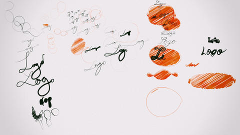 Graphic Design Concept: Logo Design Process Version 2 Stock Video Footage