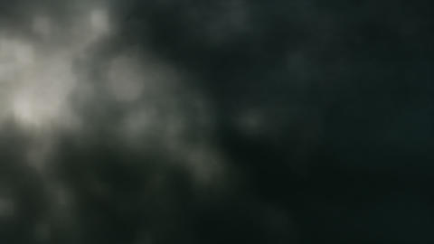 Soft Dark Clouds, Lightning Slow Motion Loop Stock Video Footage