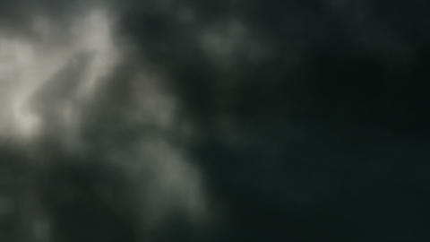 Soft Dark Clouds, Lightning Slow Motion Loop Animation