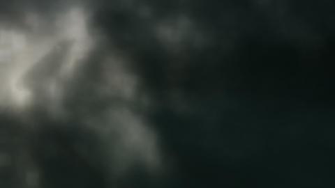 Soft Dark Clouds, Lightning Slow Motion Loop Stock Video Footage