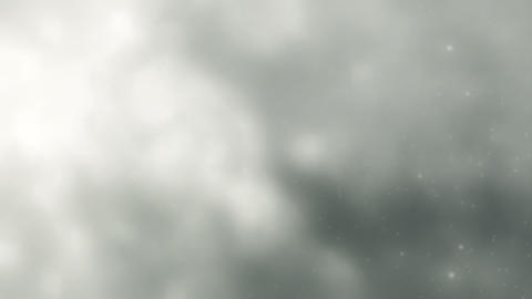 Soft White Clouds, Lightning Slow Motion Loop Stock Video Footage