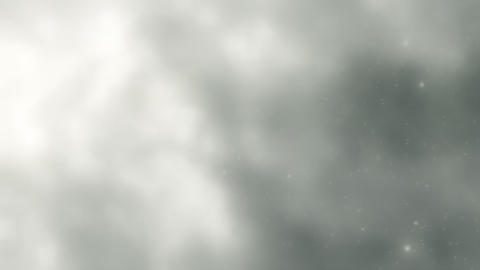 Soft White Clouds, Lightning Slow Motion Loop Animation