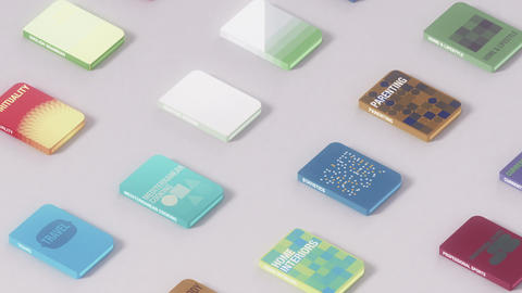 Electronic Books Seamless Background Loop Stock Video Footage