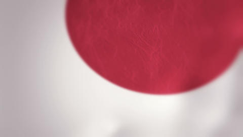 Slow Motion Japanese Flag Intro Stock Video Footage