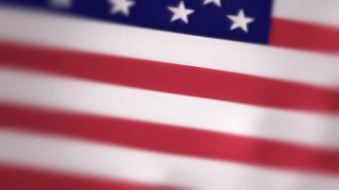 Slow Motion American Flag Intro Stock Video Footage