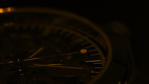 Wristwatch close up. Light and shadow Stock Video Footage