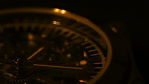 Wristwatch close up. Light and shadow Footage