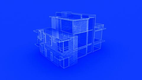 house bluprint Stock Video Footage