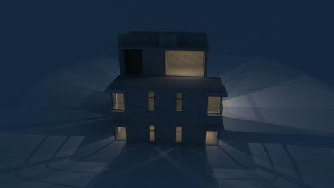 house night Stock Video Footage