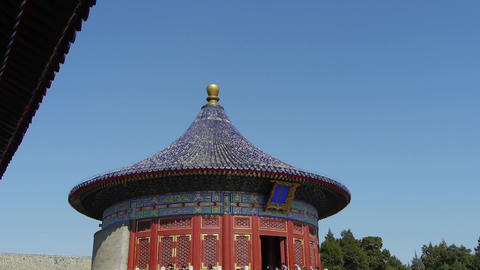 Temple in Beijing.China's royal ancient architecture Stock Video Footage
