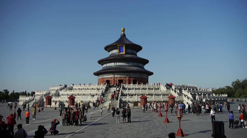 Temple of Heaven in Beijing.China's royal ancient... Stock Video Footage
