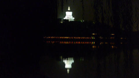 China Beijing ancient Chinese architecture White Tower... Stock Video Footage